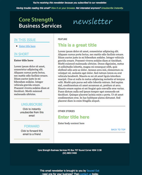 news letter examples