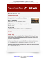 pegasus coach tours newsletter