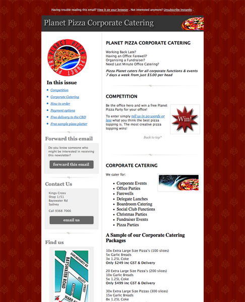 corporate newsletter examples